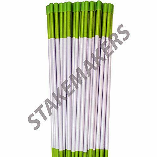 50 Pack 48'' Long Reflective Driveway Markers Snow Plow Stakes Snow Pole Green