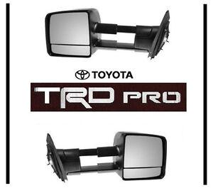 2015 Toyota Tundra Towing Mirrors >> 2015 2016 TOYOTA TUNDRA TRD PRO TOW MIRROR SET TOWING MIRRORS OEM OE | eBay