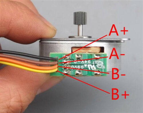 DC 5V NMB 35mm Round Thin 2-phase 4-wire Stepper Motor Micro Stepping Motor+Gear