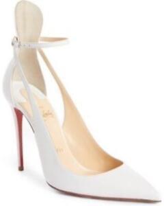 sale retailer c8998 c803f Details about Christian Louboutin MASCARA 100 Strappy Pumps Heels Sandals  Shoes White $895