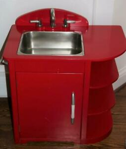 Pottery Barn Kids Kitchen Sink Red Retro Stainless Steel