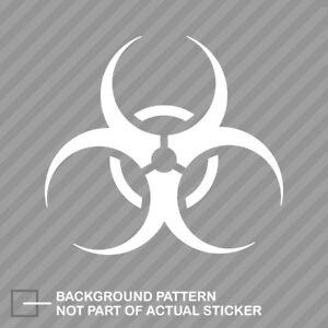 Bio Hazard BioHazard Decal//Sticker Zombie Die Cut Choose color//size car phone
