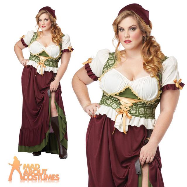 cc9c8f33f26 Ladies Medieval Renaissance Peasant Lady Plus Size Fancy Dress ...