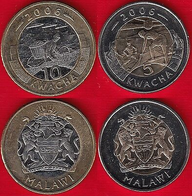 10 KWACHA UNC COIN 2006 YEAR BIMETAL MALAWI