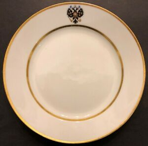 Alexander-lll-Imperial-Russian-Porcelain-2nd-Course-Plate-Coronation-Service