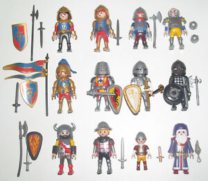 Playmobil-Figurine-Personnage-Moyen-Age-Chevalier-Accessoires-Modele-au-Choix