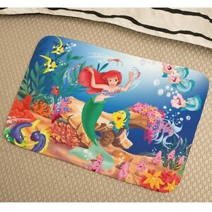 Image Is Loading The Little Mermaid Ariel Soft Absorbent Non Slip