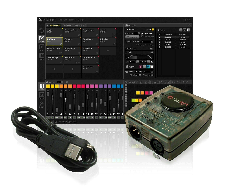 Daslight DVC4 GZM Gold DMX Software Package Lighting Controller Disco DJ Stage L
