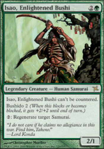 1x Isao, Enlightened Bushi Light Play, English Betrayers of Kamigawa MTG Magic