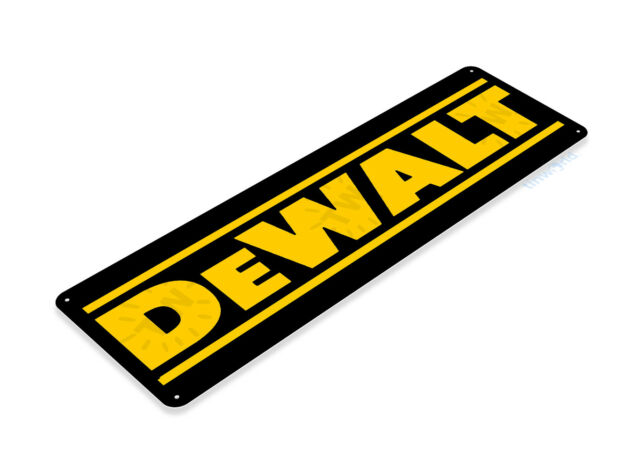 TIN SIGN Dewalt Mechanic Gas Oil Auto Power Tools Toolbox Garage Shop B074
