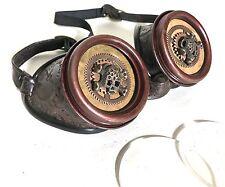 Cogs Steampunk Occhiali in rilievo con inserti Cranio di metallo e lenti trasparenti