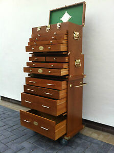 103-US-Pro-Tools-Wooden-Tool-Box-Chest-Wood-Cabinet-Engineer