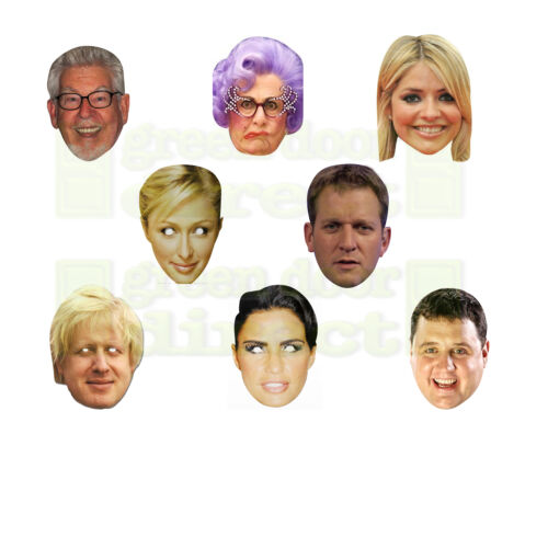 TV Celebrity Face Masks Stag Do Hen Night Fancy Dress Party Free UK Shipping