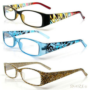 Reading Glasses Single Vision Rectangle Frame Mix Colors ...