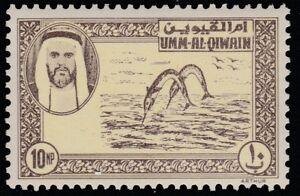 UAE - Umm Al Qiwain (1491) - 1963 Perforated ESSAY 10np Fish unmounted mint