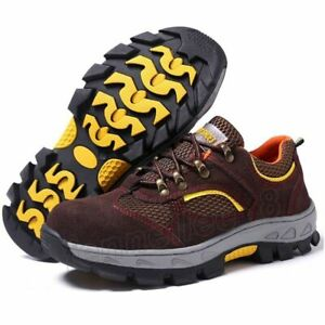 9a0b882898c Mens Summer Breathable Steel Toe Safety Shoes Prevent Puncture ...