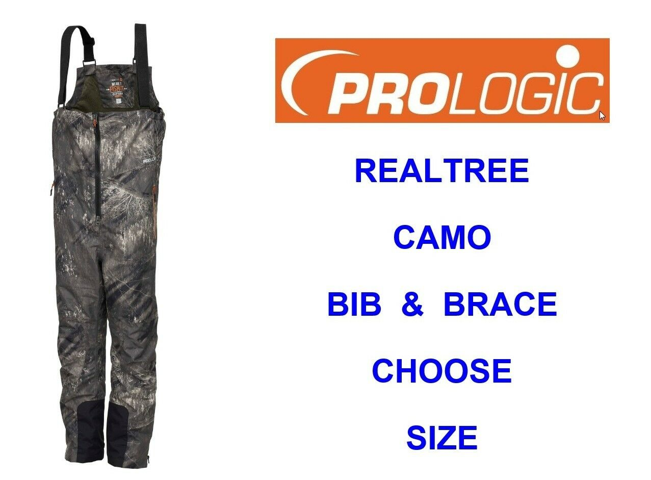 PROLOGIC REALTREE CAMO BIB & BRACE 100% WATERPROOF HUNTING SHOOTING FISHING CARP