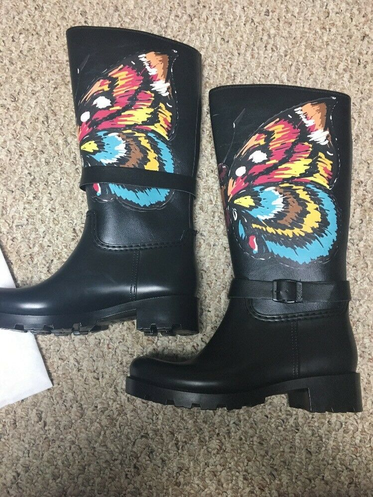 Live Live Live The Rain Boots Walk Coby Size 39 Butterfly colorful Size 8.5 6ee630