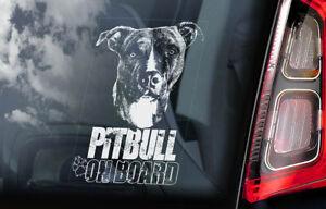 Pitbull-On-Board-Auto-Finestrino-Adesivo-Fossa-Bull-Terrier-Cane-Cartello