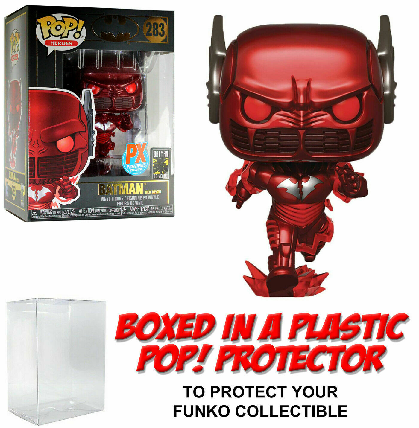 rojo Death Batman funko pop Winkle New Mint Box px parche