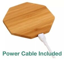 Bamboo Wood Qi Wireless Hexagon Charger Pad -Samsung Galaxy S7 S6 & Edge & Edge+