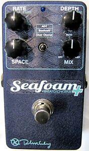 Used Keeley Seafoam Plus Chorus Guitar Effects Pedal Sea Foam +