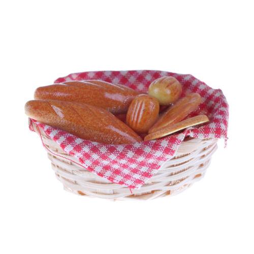 1//12 Dollhouse Miniature Bread// Toast on a Basket Simulation food Kitchen CYN