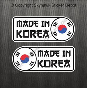 Made-In-Korea-Car-Sticker-Set-Vinyl-Decal-Flag-Sticker-For-Hyundai-Genesis-Kia