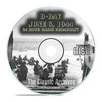 D-day Landing Ww2, June 6, 1944 Old Time Radio Cbs Broadcast Otr Mp3 Cd E89