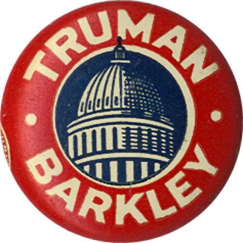 1871 Classic 1948 Truman Barkley Capitol Rotunda Campaign Button