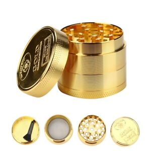 Tobacco-Herb-Spice-Grinder-4-Piece-Herbal-Alloy-Smoke-Metal-Chromium-Crusher-B
