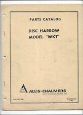 9001349 Oem Oe Original Allis Chalmers Parts Catalog For Model Wkt Disc Harrow