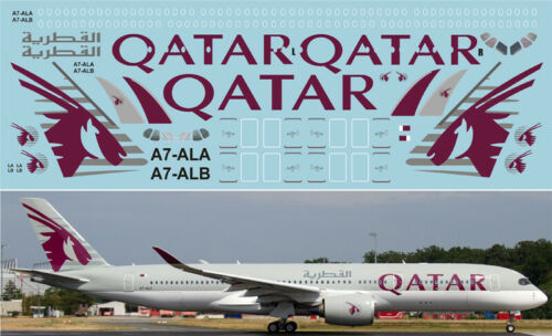 Airbus А350 Qatar 1:144 PAS-Decals #350-02 decal for REVELL kit