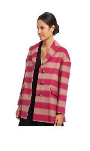 RED VALENTINO Coat HR0493B5 NWT sz 8 NWT Stripes