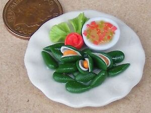 1:12 Scale Chicken Salad In A 2cm Plastic Dish Tumdee Dolls House Accessory
