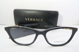 9924d6a3aba Versace Women s Black Eyeglasses with case MOD 3213-B GB1 52mm ...