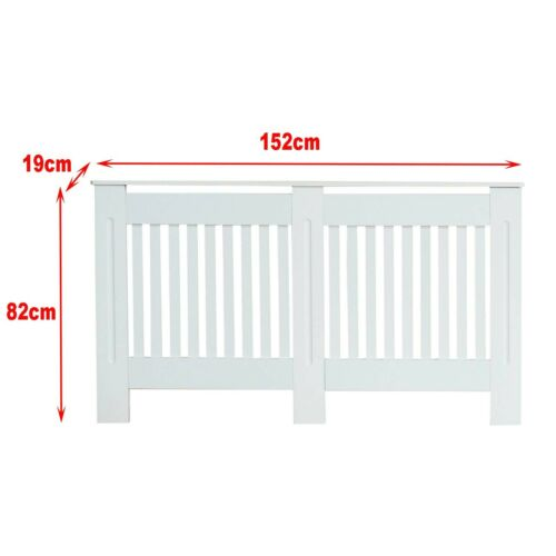 Chelsea Radiator Cover Modern Slatted Grill Slats White Painted Oxford Cabinet