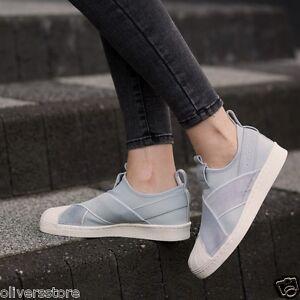 adidas originals white superstar slip on trainers