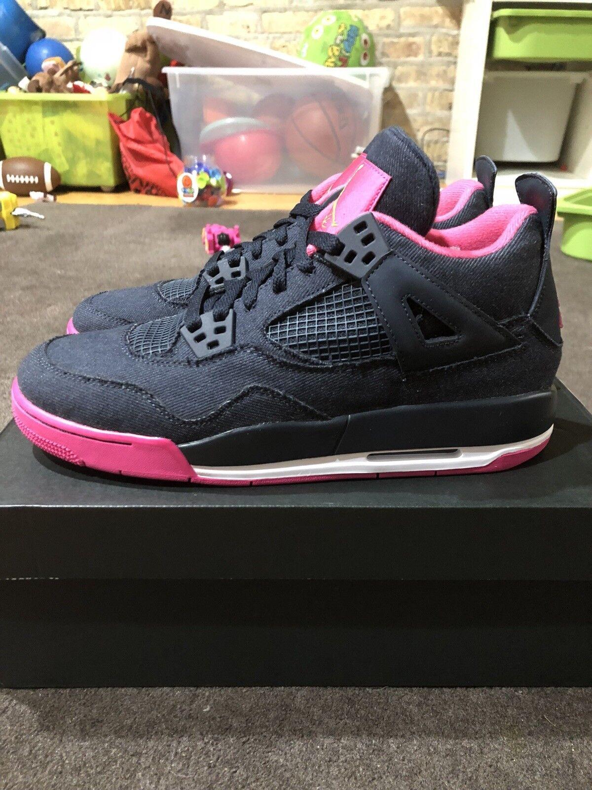 Nike air jordan 4 retr gg denim rosa 9.5y = = uomini sz 9,5 = 9.5y donne sz 11 1f7c59