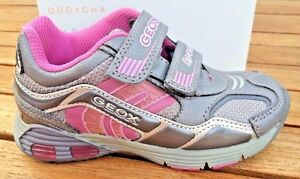 GEOX Light Up Pink Leather Sport Sneakers Sz 7 (Toddler) GUC