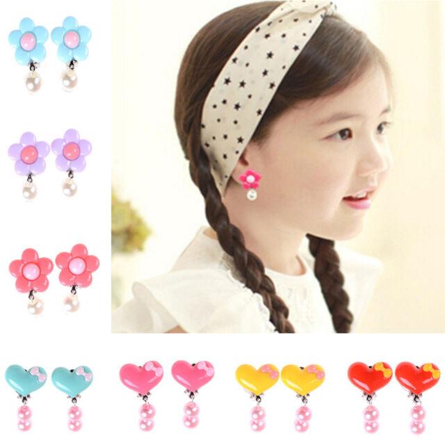 Bow Butterfly Knot Clip-on Earrings Kids Children Teen Girls Birthday Party  Gift for sale online   eBay