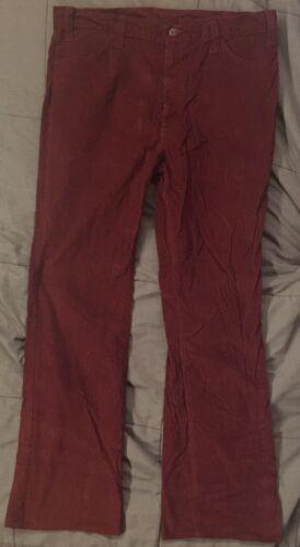 Vintage Levis For Men 547 1970s Red Corduroy Pants