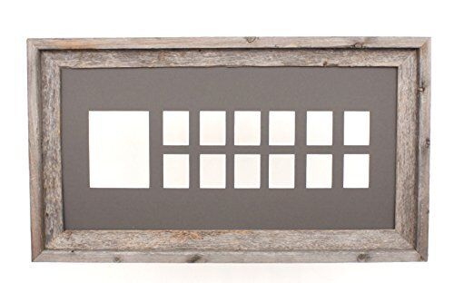 100/% Reclaimed Wood BarnwoodUSA School Years Matted Picture Frame K-12