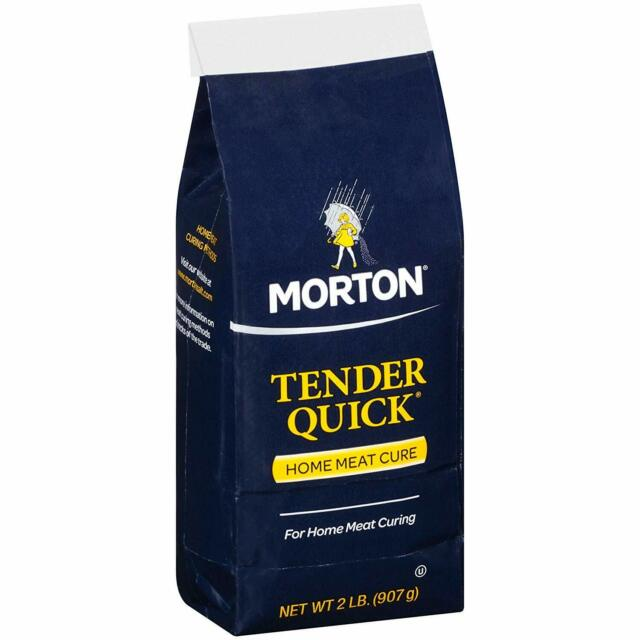 Morton Curing Salt Tender Quick Home Meat Cure 2 Pound for Pork Chops Spareribs