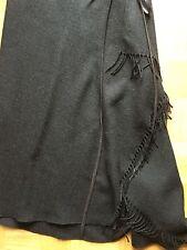 VINTAGE 90er Donna Karan DKNY Fransen Rock fringle Skirt Wickelrock US 6 Gr.36
