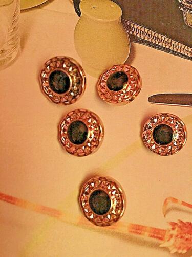 5x diseño botones versace negro oro 10mm chaqueta abrigo disfraz vestido pantalones logotipo