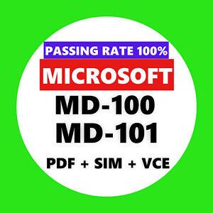 Details about Microsoft MD-100 MD-101 EXAM Test PDF & Sim