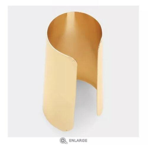 """4.75/"""" de ancho de Oro Metal Grande Disfraz De Metal Brazalete Pulsera Gruesa De Armadura"""