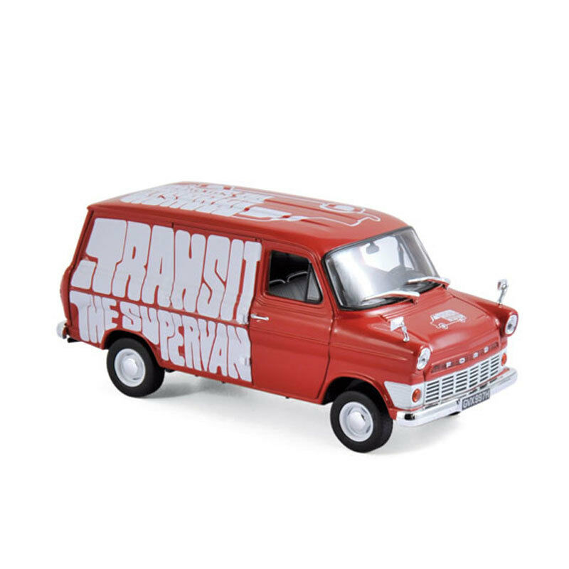 Norev 270521 FORD TRANSIT   - The SUPERVAN   red 1965 SCALA 1 43 NUOVO  °