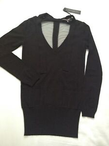 Alessandro 10 Black uk 8 It Dell'acqua 40 Jumper Taille Bnwt Knitwear v6rq7v